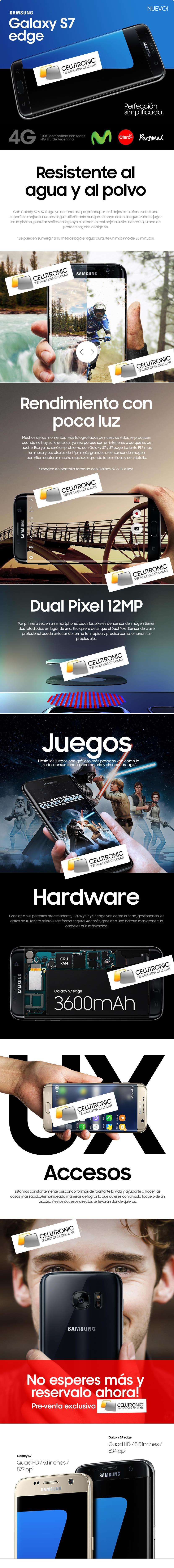 SAMSUNG GALAXY S7 G930I LIBRE 4G LTE EN ARGENTINA AL MEJOR PRECIO