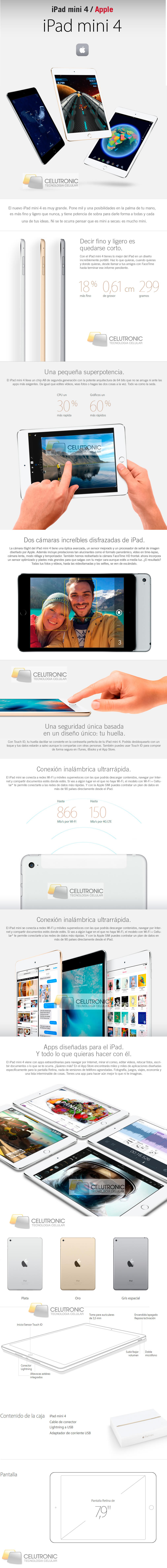 Apple iPad Mini 4 Wifi 4G En argentina